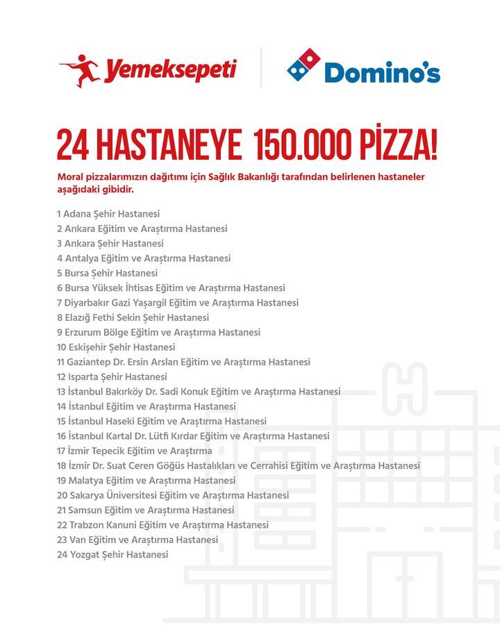 Yemeksepeti CEO'su Nevzat Aydın: Domino's iş birliğiyle sağlık çalışanlarına 150 bin adet pizza göndereceğiz