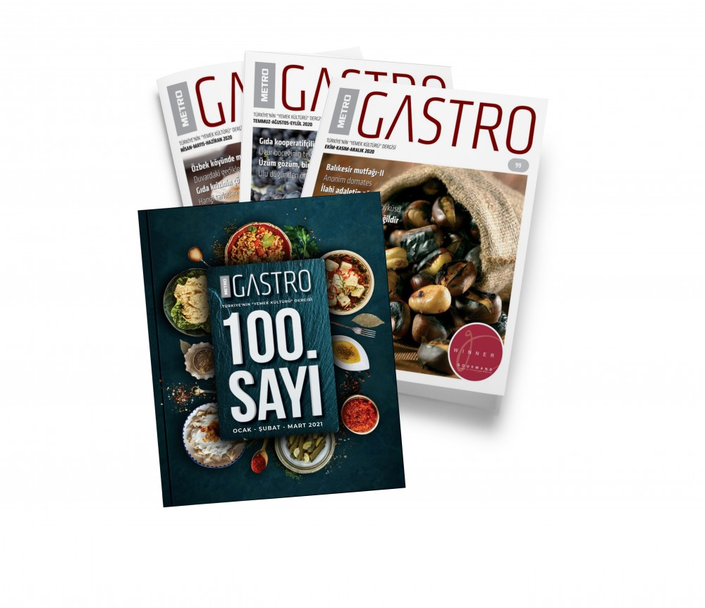 Türkiye'nin ilk yemek kültürü dergisiMetro Gastro,100. sayısını yöre mutfaklarından 100 tarifle kutluyor