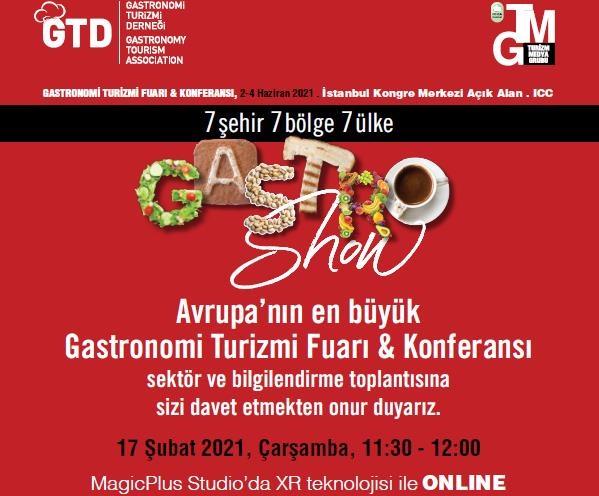 Gastronomi Turizmi Fuarı & Konferansı :17 SUBAT 2021