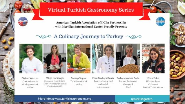 ATA-DC Türk gastronomisini Amerikalılara sanal etkinliklerle tanıtacak
