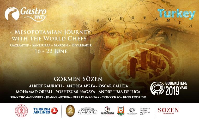 Gastroway dünya şefleri ile 16-22 Haziran'da Mezopotamya'ya gidiyor