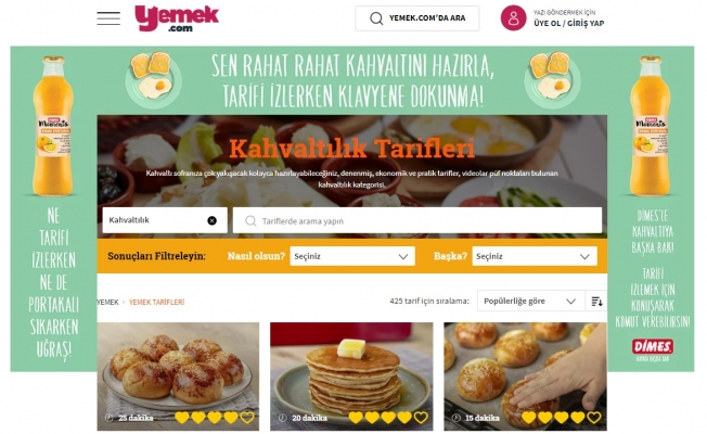 Yemek.com dan uluslararası başarı