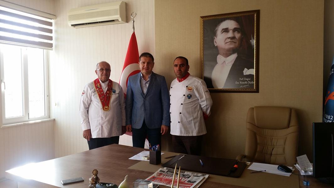 MAD BAŞKANI MYO MÜDÜRÜ PROF.DR. HAKAN SERT'İ ZİYARET ETTİ