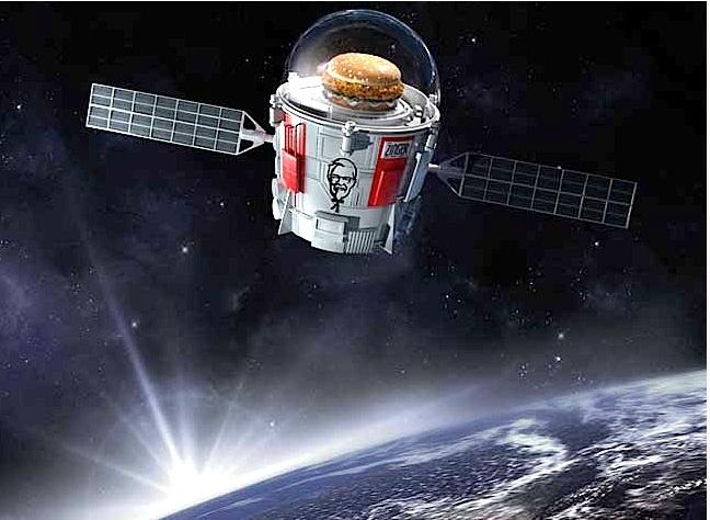 """Dünyanın en iyi tavuk burgeri """"Zinger Burger"""" artık uzayda"""