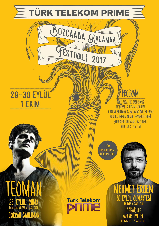 Bozcaada Kalamar Festivali : 29 Eylül - 1 Ekim 2017