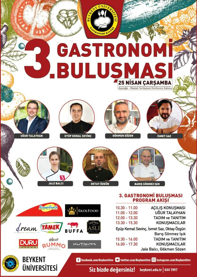 Beykent Üniversitesi 3. Gastronomi Buluşması Gerçekleşecek