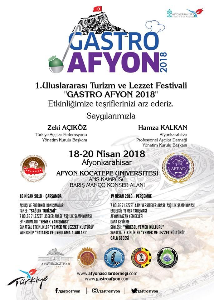 GASTRO AFYON:18-20 NİSAN 2018