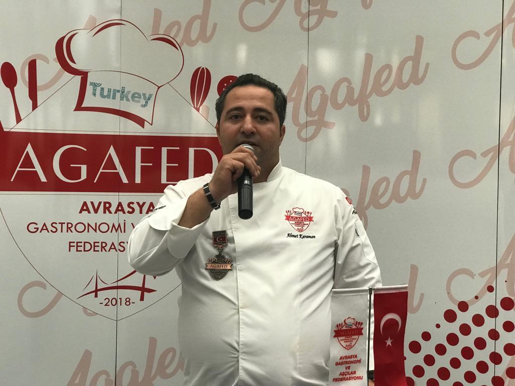 Avrasya Gastronomi Ve Aşçılar Federasyonu Başkanlığına Ahmet KARAMAN Seçildi..