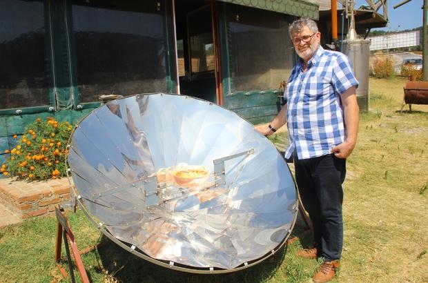 Bu köyde yemekler güneş ile pişiyor Güneş sobasıyla yemek pişiriyorlar