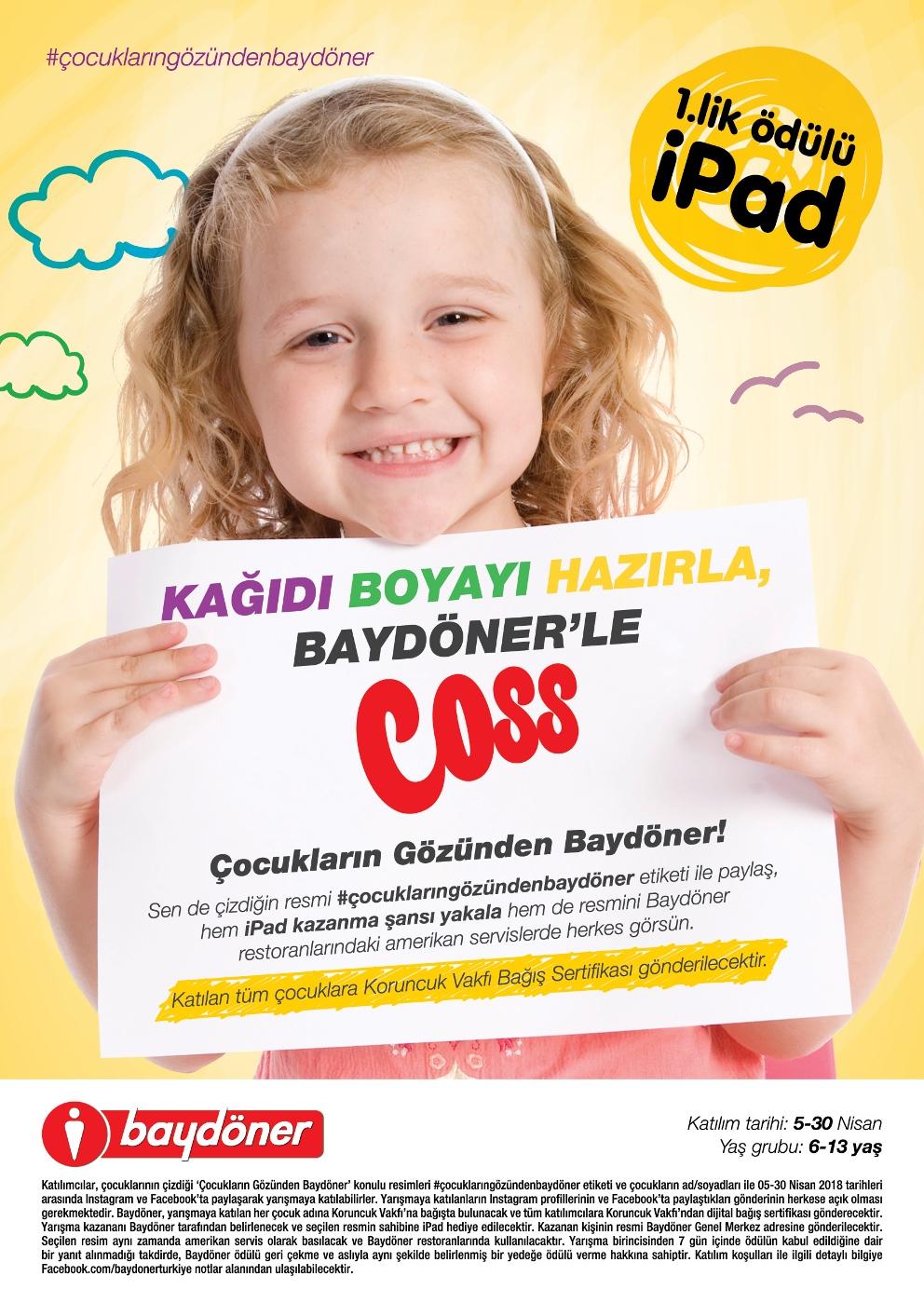 Baydöner'den Çocuklara Özel Resim Yarışması
