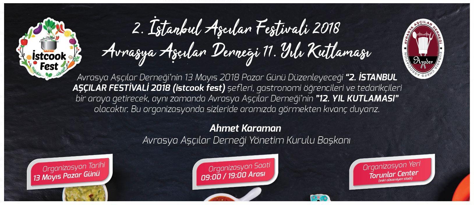 2.İSTANBUL AŞÇILAR FESTİVALİ  GERÇEKLEŞTİ...