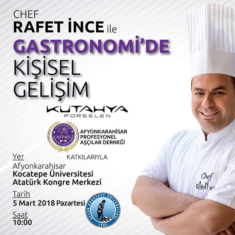 Chef Rafet İnce Kişisel Gelişim İçin Kocatepe Üniversitesinde...