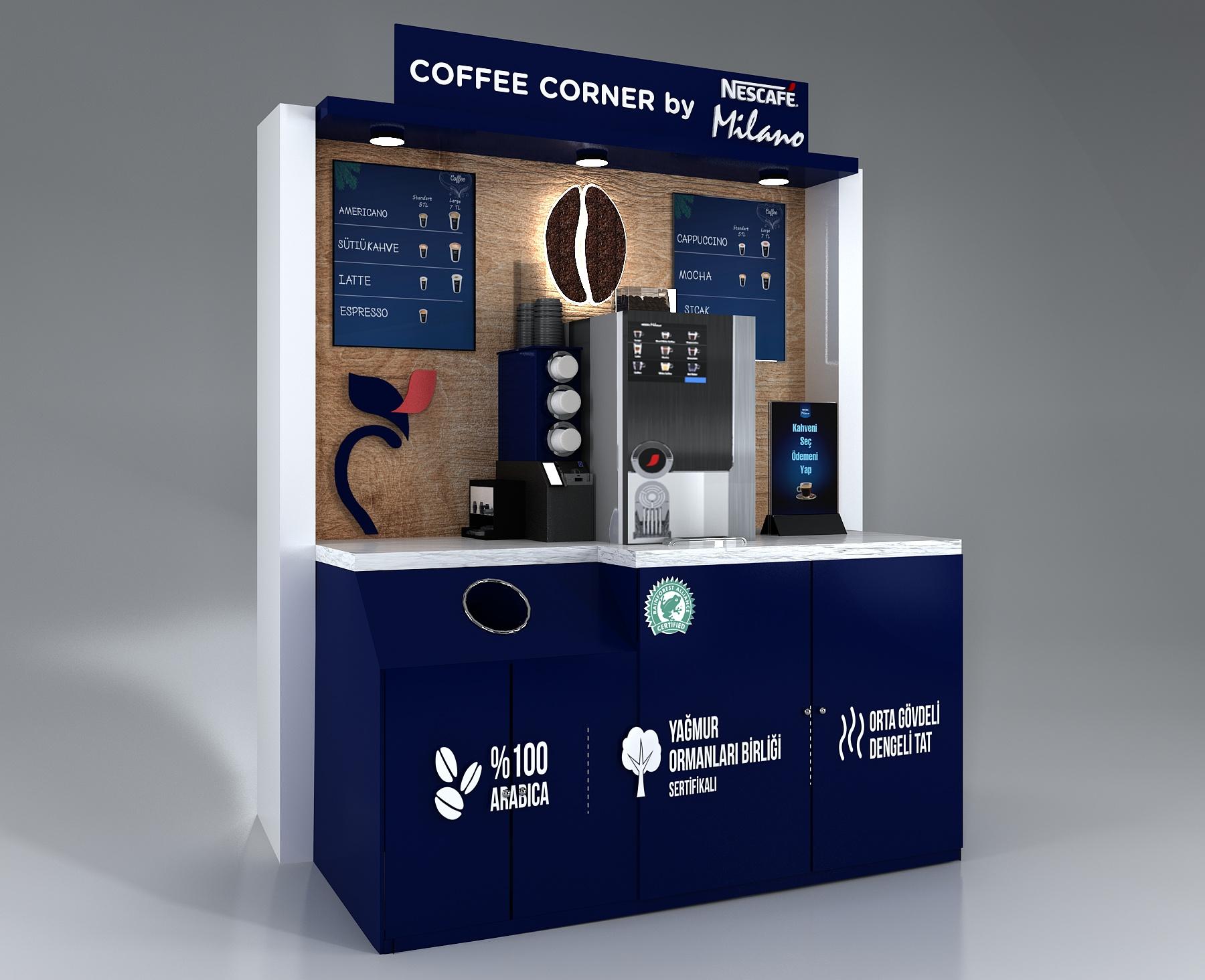 COFFEE CORNER by NESCAFÉ Milano ile  keyifli bir kahve molasına ne dersiniz?