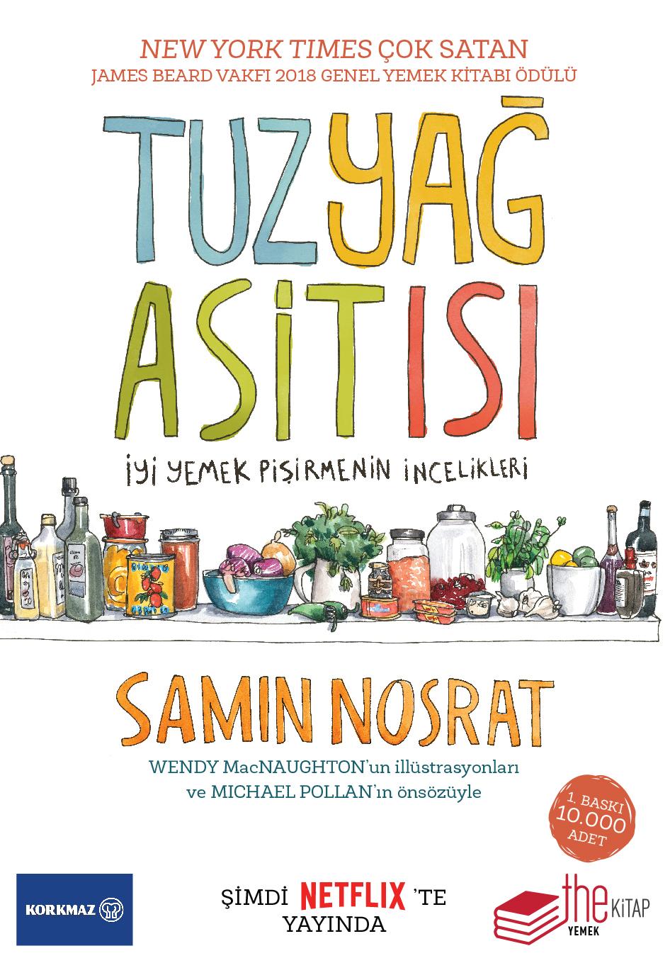 """Dünyada Çok Satan Yemek Kitabı """"Tuz, Yağ, Asit, Isı"""" Türkiye'de!"""