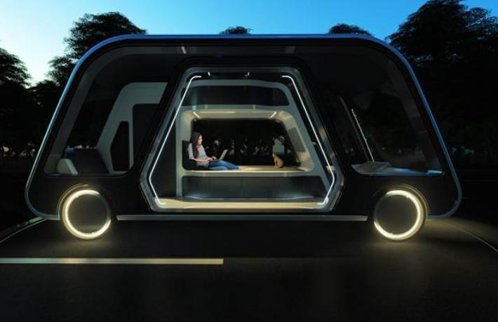 Uber yürüyen otel tasarladı