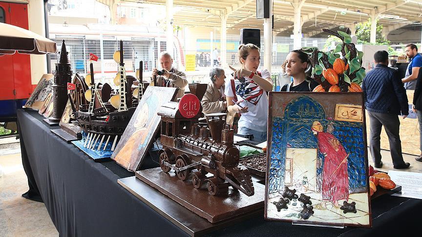 Uluslararası Çikolata Festivali, Tarihi Sirkeci Garı\\\'nda meraklılarıyla Buluştu.