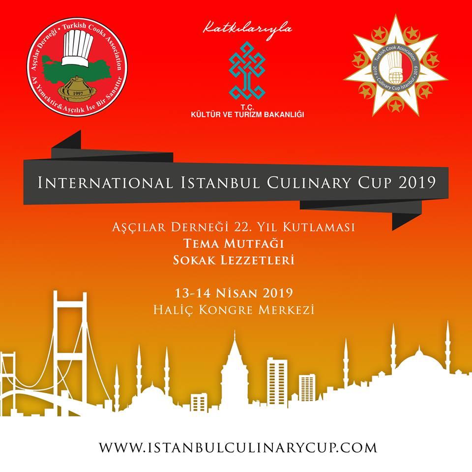 INTERNATIONAL ISTANBUL CULINARY CUP 2019 BAŞLIYOR!