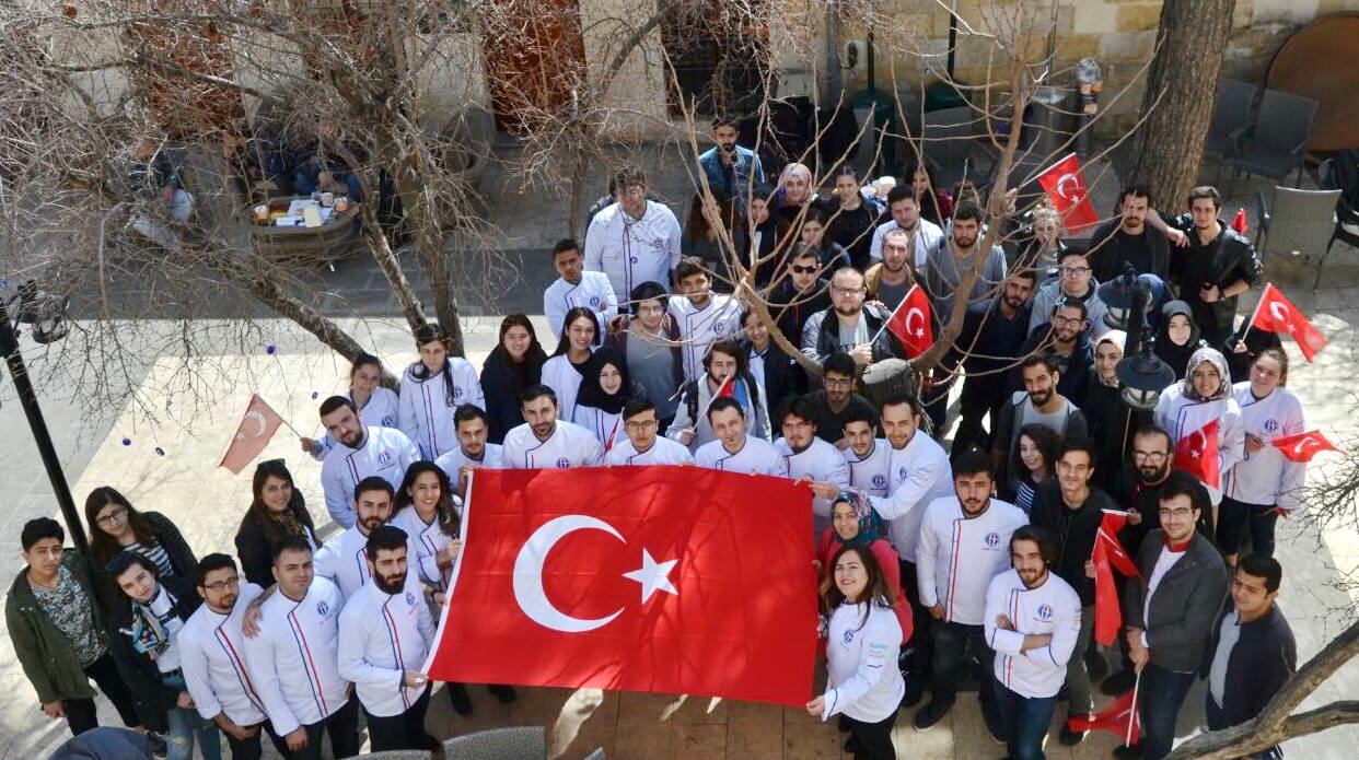GAÜN Gastronomi ve Mutfak Sanatları Bölümü Öğrencileri 18 Mart Menüsünü Hazırladı