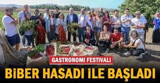 GASTRONOMİ FESTİVALİ BİBER HASADI İLE BAŞLADI