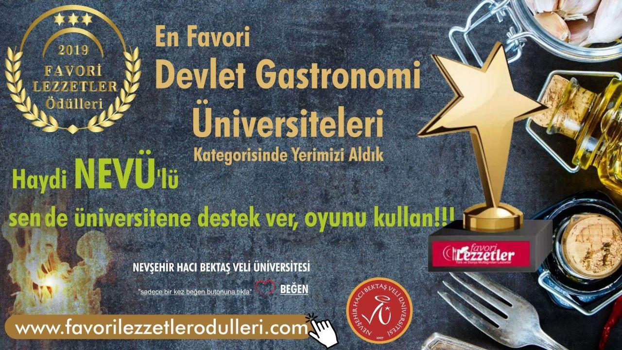 NEVÜ Gastronomi Bölümü, 2019 Favori Lezzetler Ödüllerine Aday Gösterildi