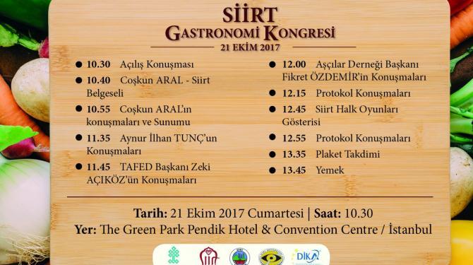 Siirt Gastronomi Kongresi İstanbul'da