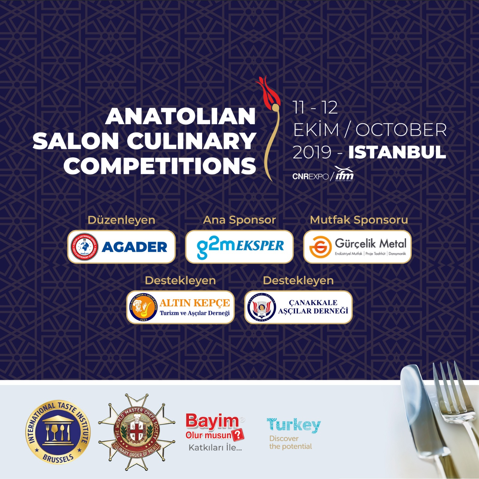1.Anatolian Salon Culinary Competition:11-12 Ekim 2019
