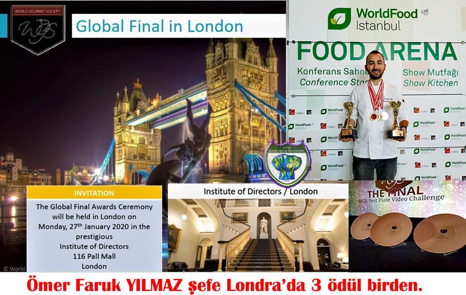 Ömer Faruk YILMAZ şef Londra'dan 3 ödül birden aldı.