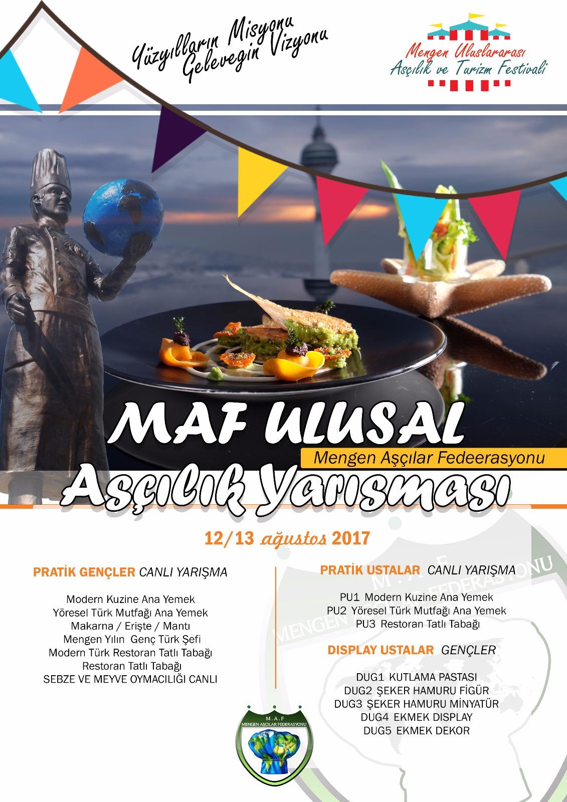 """MAF""""Mengen Festivalinde Ulusal Aşçılık Yarışması"""