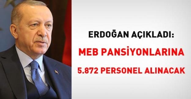 MEB pansiyonlarına 5 bin 872 aşçı ve yardımcı destek personeli alınacak