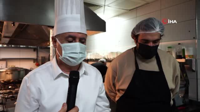 Şef Barbaros ve Başkan Deveci birlikte yemek hazırladı